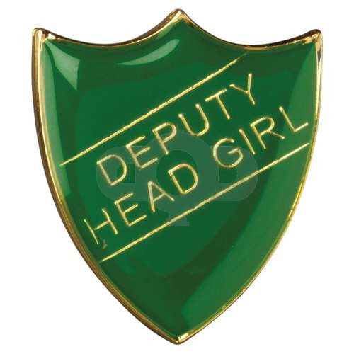 School Shield Badge Deputy Head Girl Green