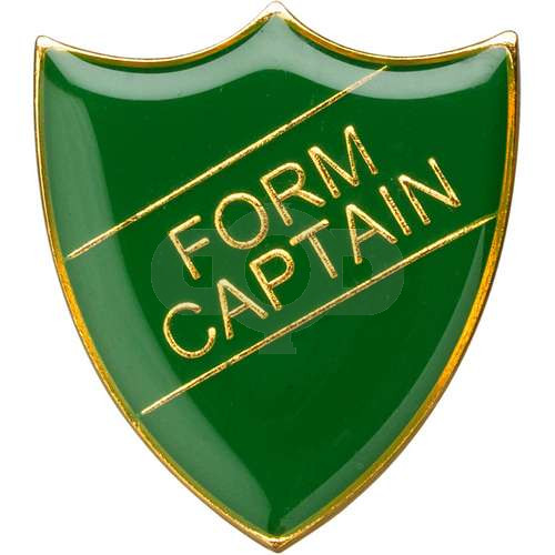 School Shield Badge (Form Captain) - Green