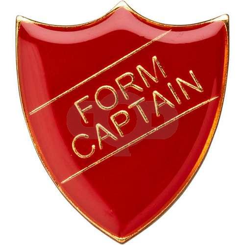 School Shield Badge (Form Captain) - Red