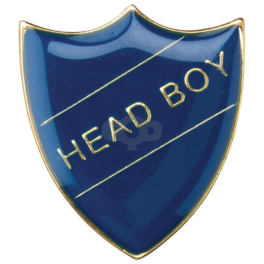 School Shield Badge Head Boy Blue