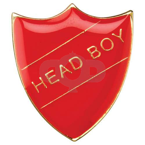 School Shield Badge Head Boy Red