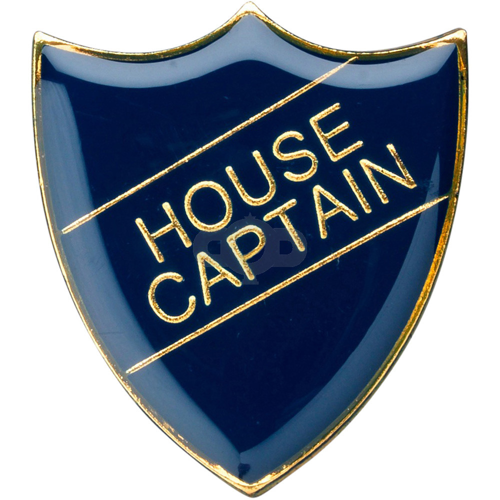 School Shield Badge (House Captain) - Blue