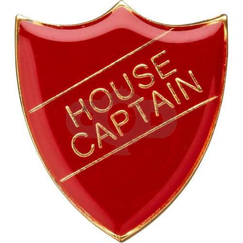 School Shield Badge (House Captain) - Red
