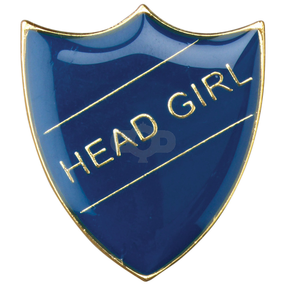 School Shield Badge Head Girl Blue