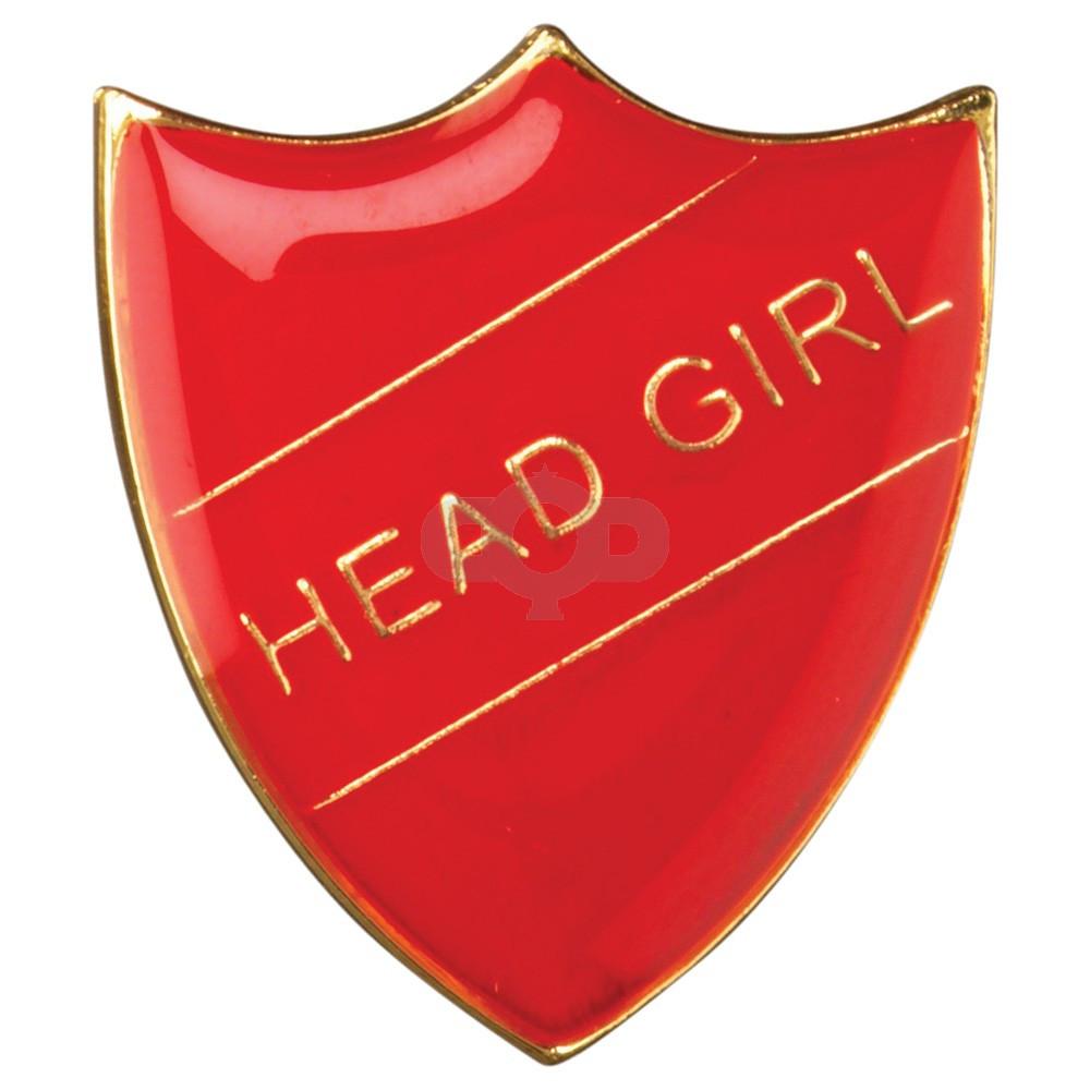 School Shield Badge Head Girl Red