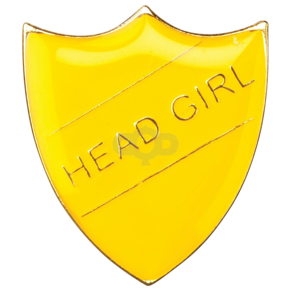 School Shield Badge Head Girl Yellow