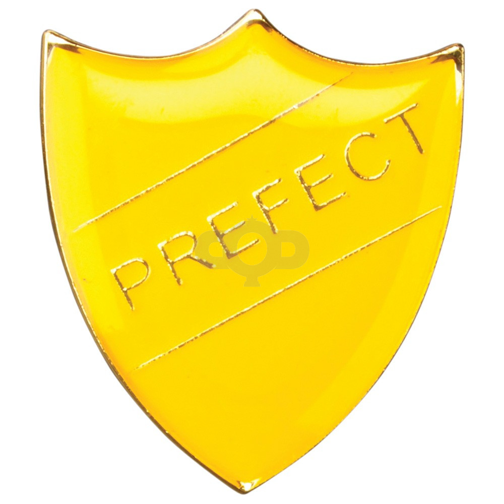 School Shield Badge Prefect Yellow