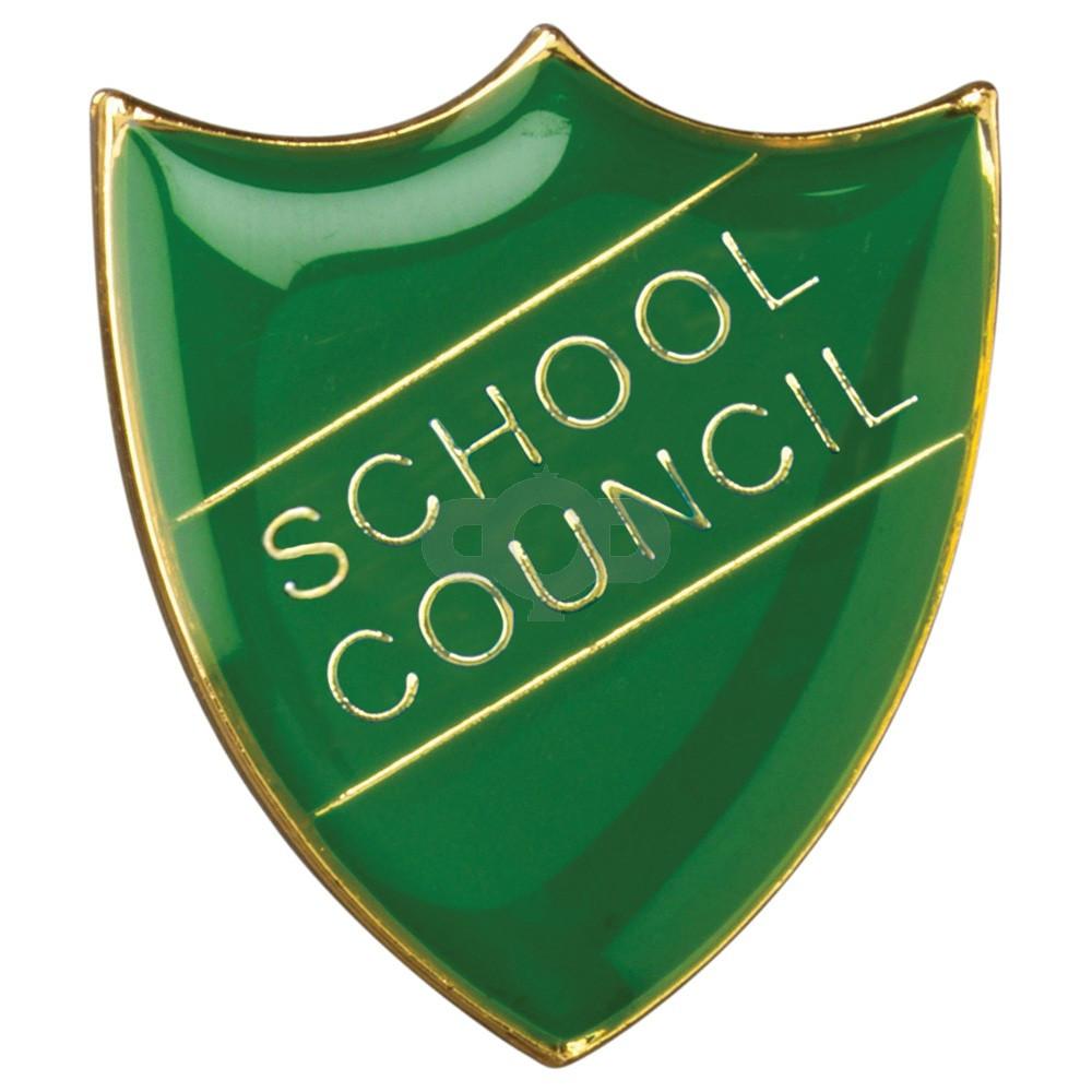 School Shield Badge School Council Green