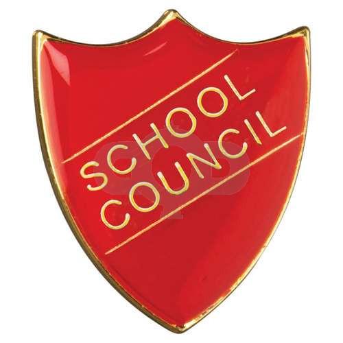 School Shield Badge School Council Red