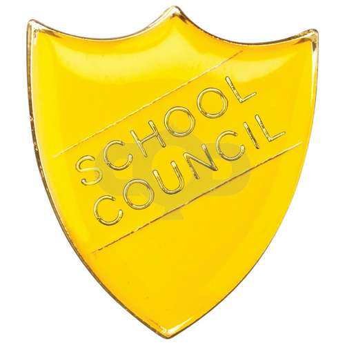 School Shield Badge School Council Yellow