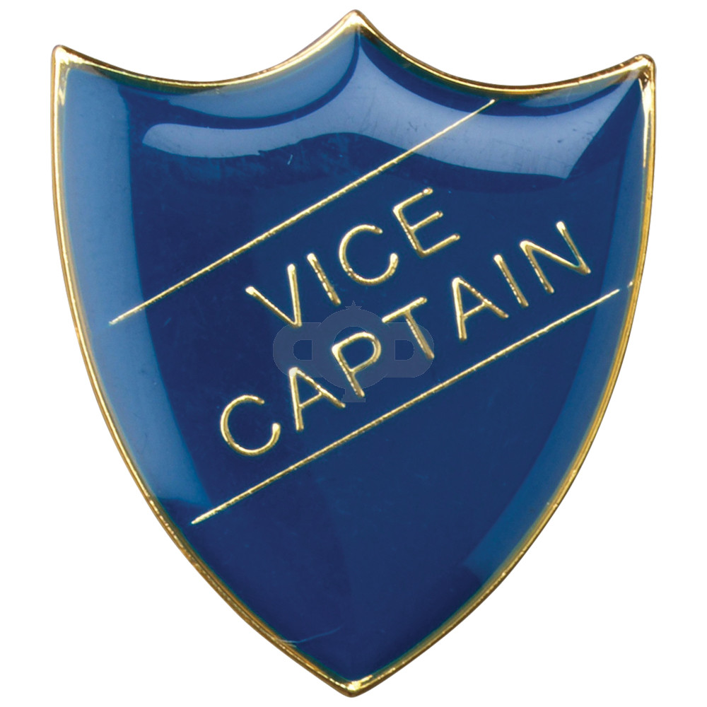 School Shield Badge Vice Captain Blue
