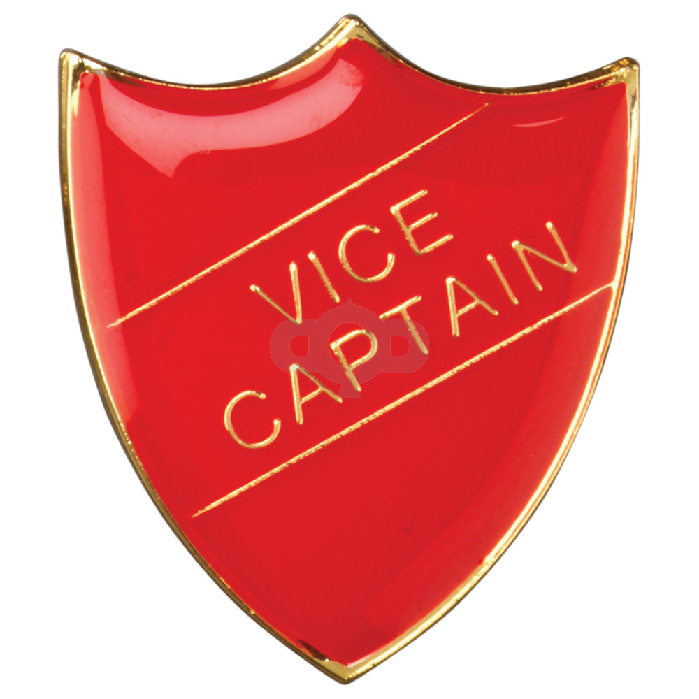 School Shield Badge Vice Captain Red