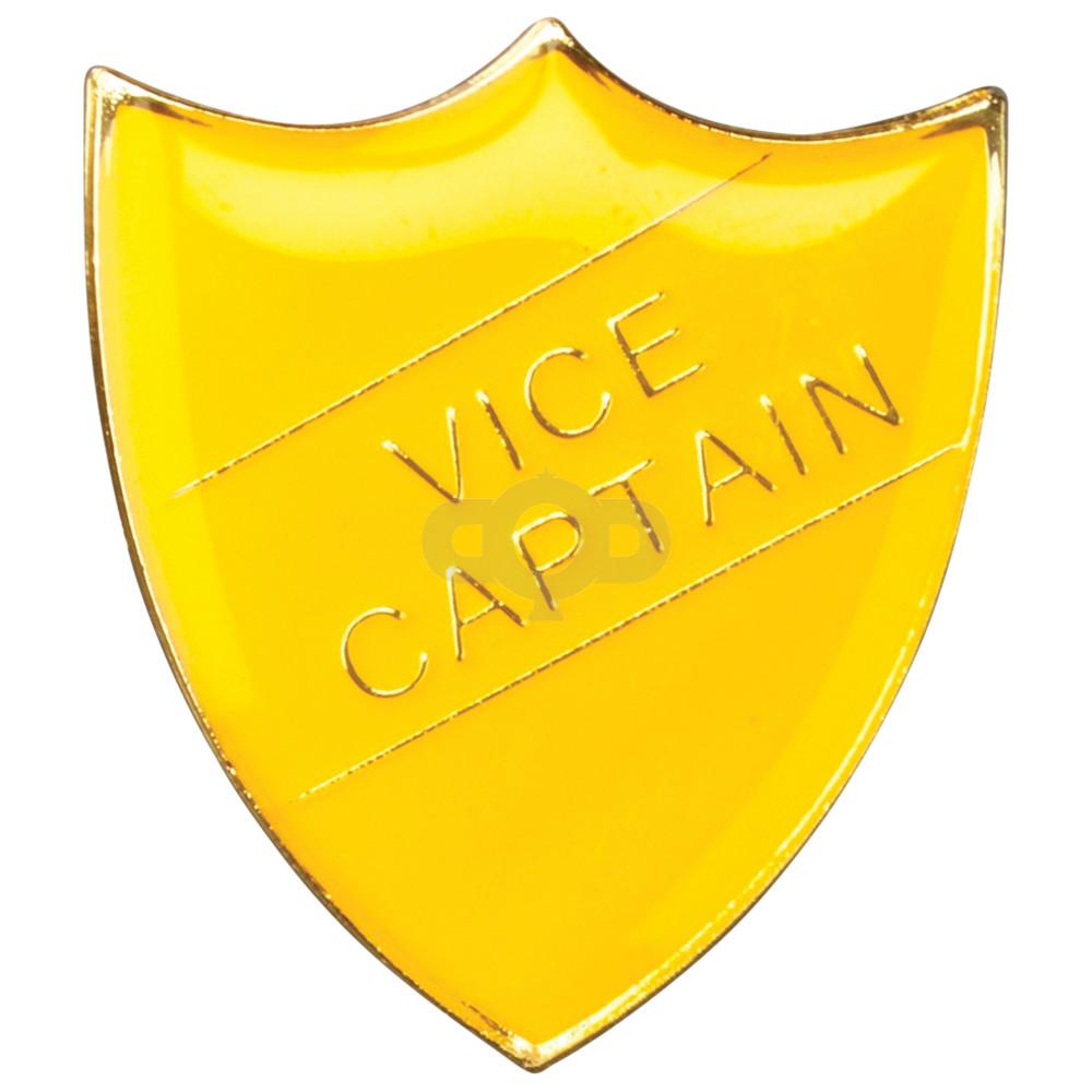 School Shield Badge Vice Captain Yellow
