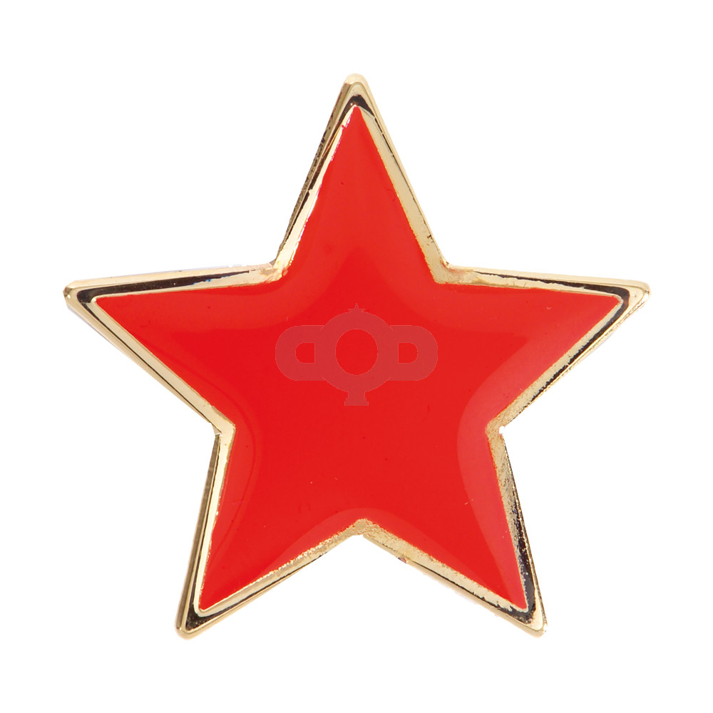 Star Enamel Red Badge