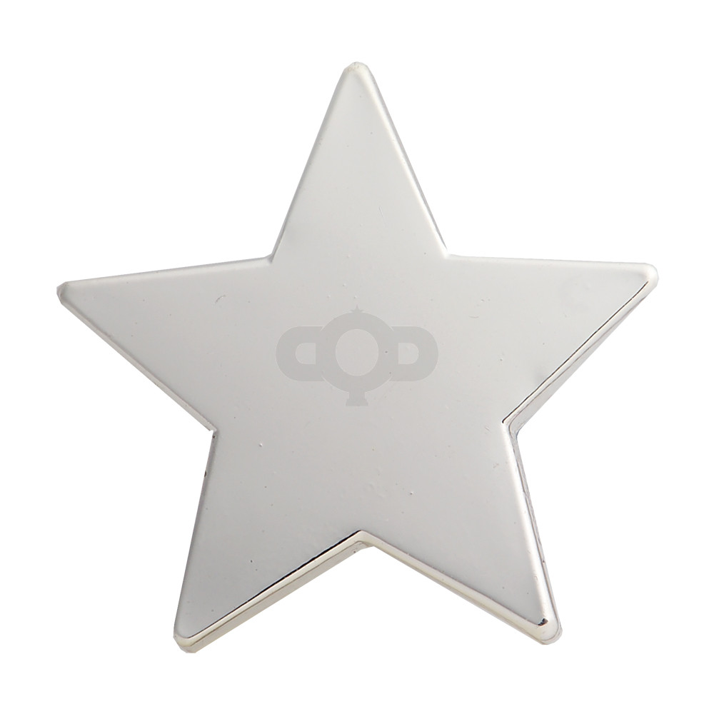 Star Enamel Silver Badge