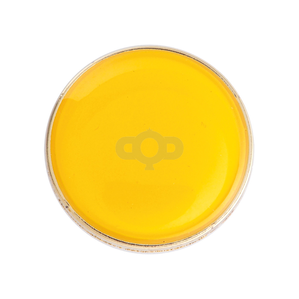 Round Enamel Yellow Badge