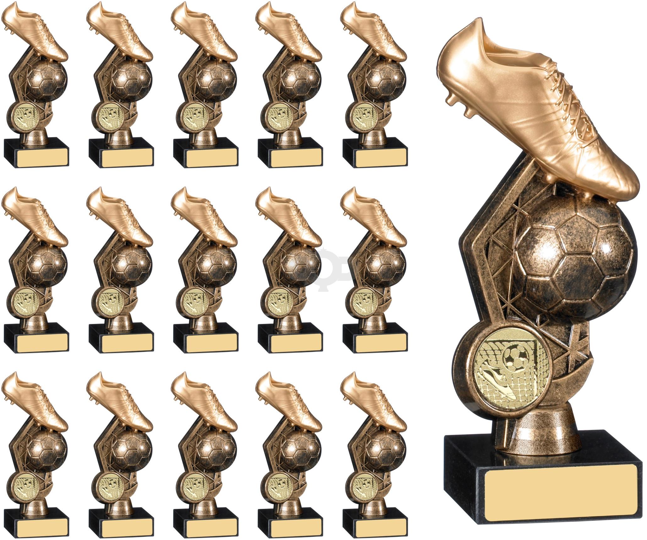 15 Ball & Boot Trophy Team Award Pack