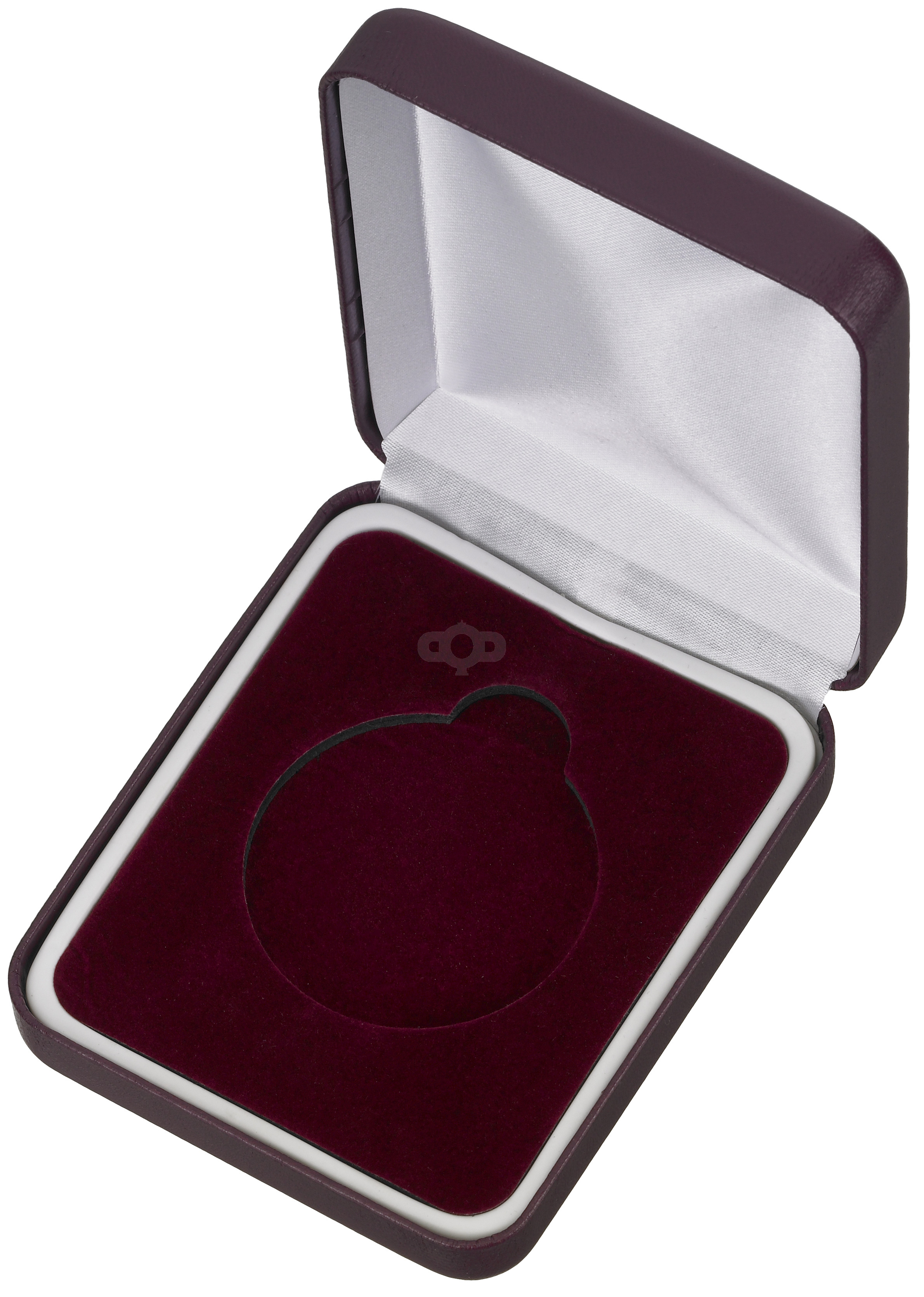 Maroon Padded Medal Box