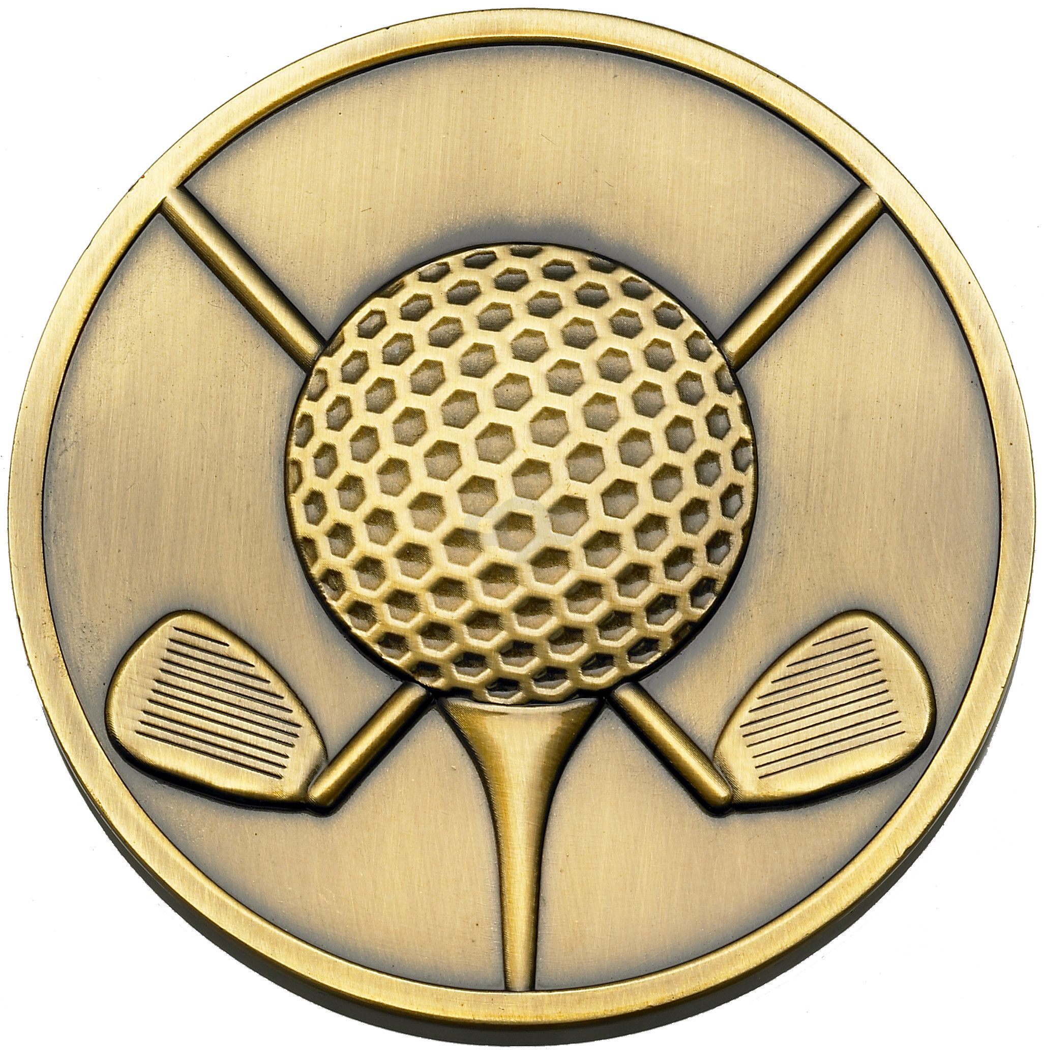 Golf Ball And Clubs Medal