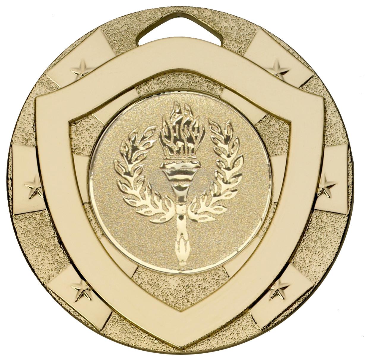 Gold Mini Shield Medal