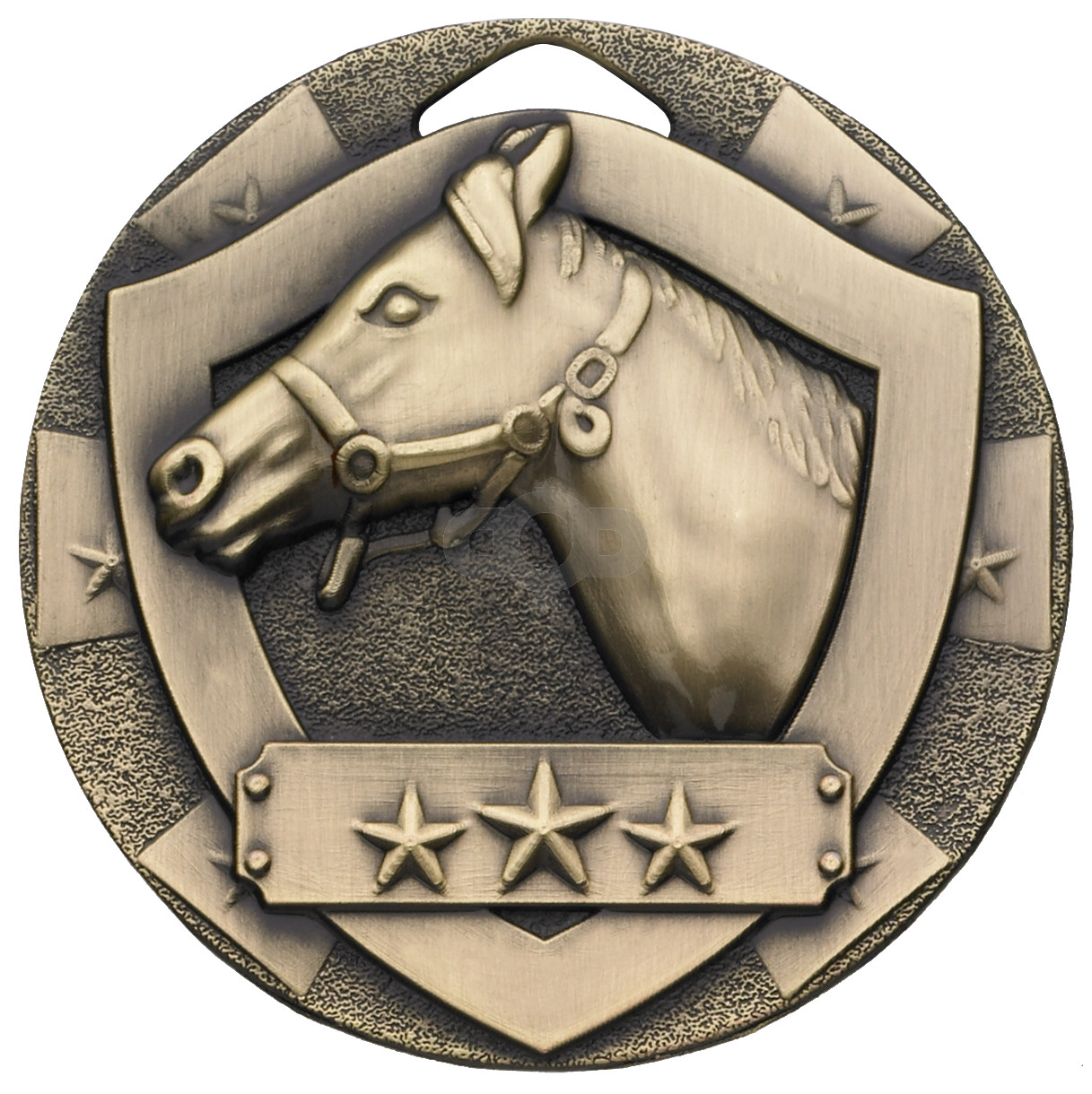 Bronze Equestrian Mini Shield Medal