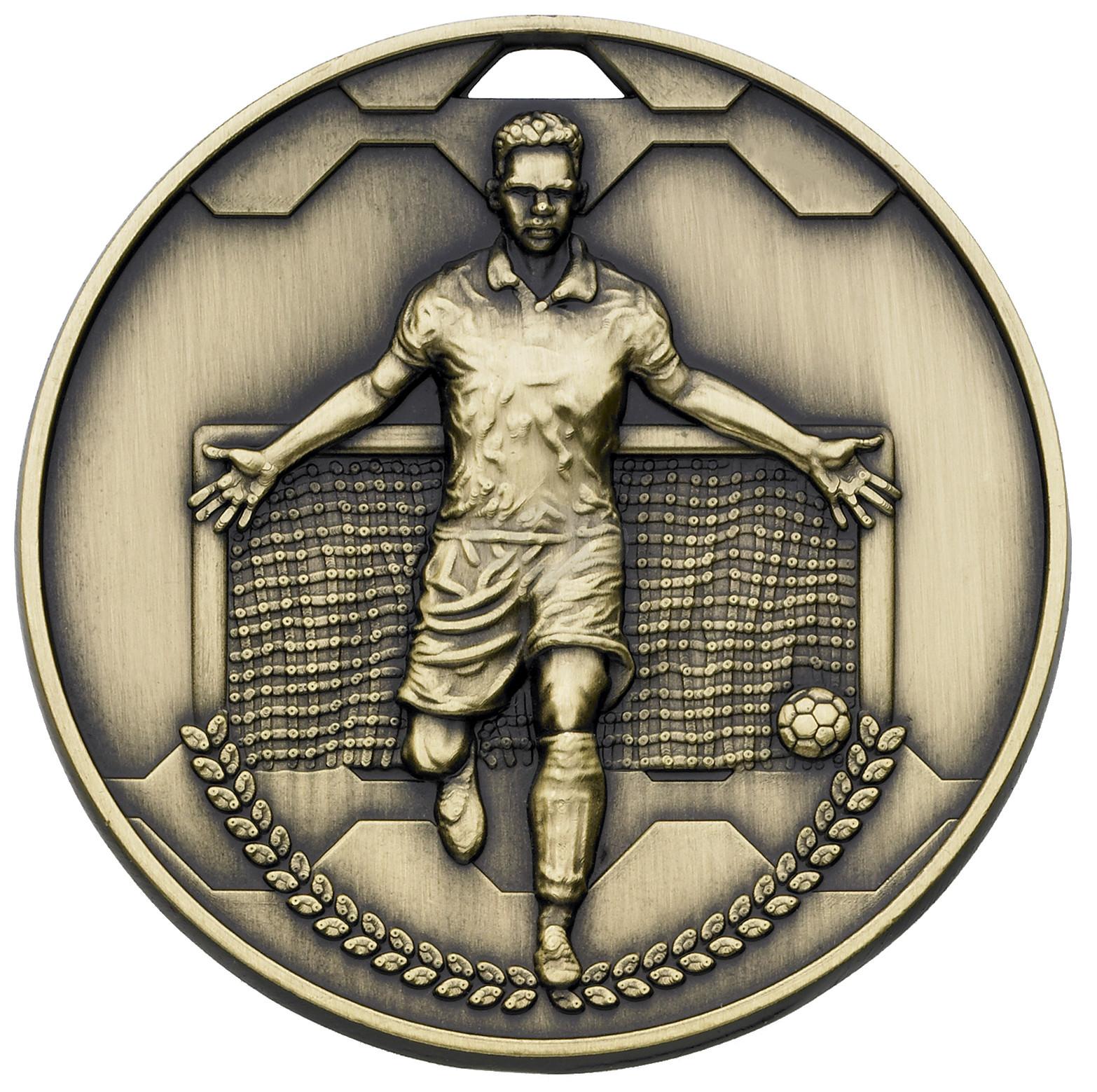 Bronze Football Scorer Male Medal