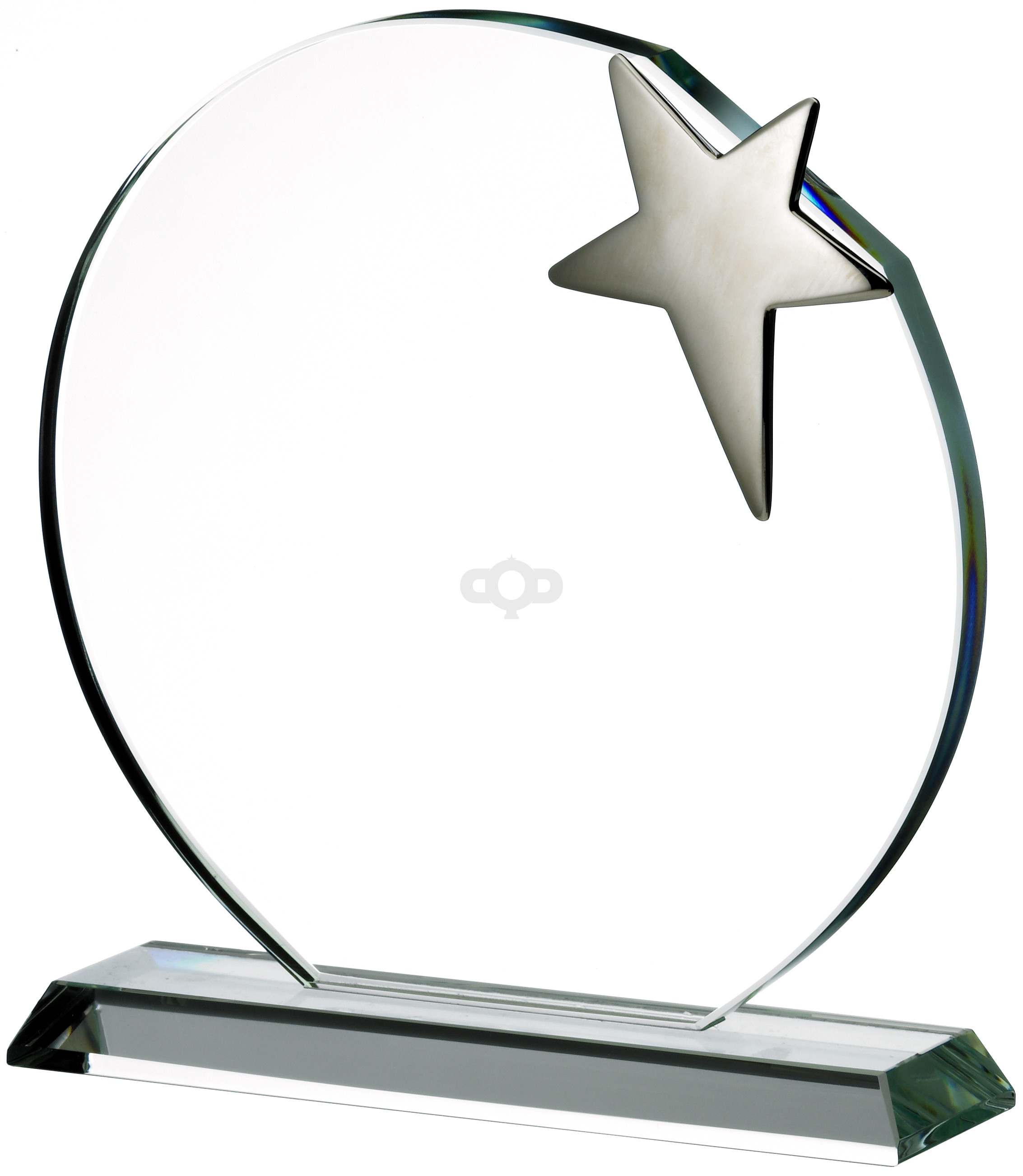 Silver Star On Clear Base Award