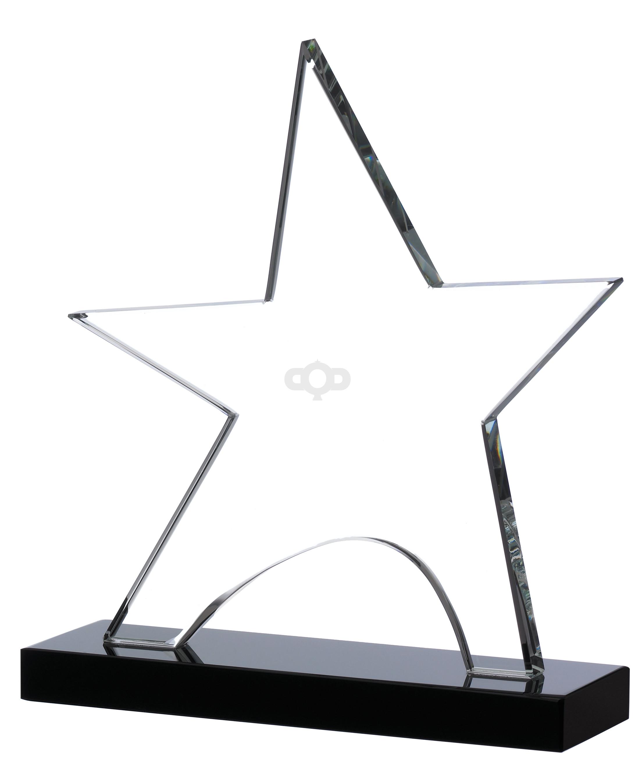 Clear Star On Black Base Award