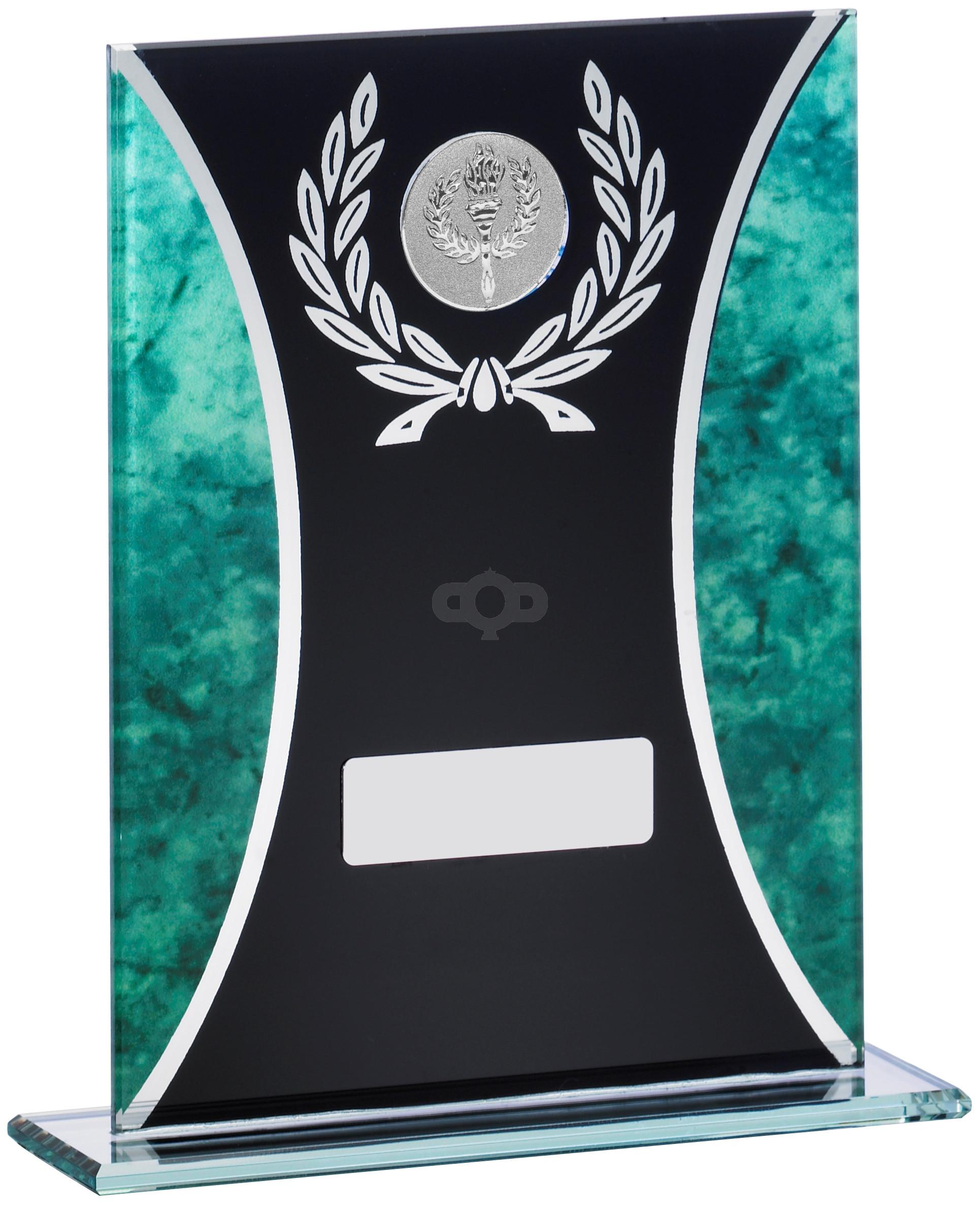 Green Marble Black Glass Award