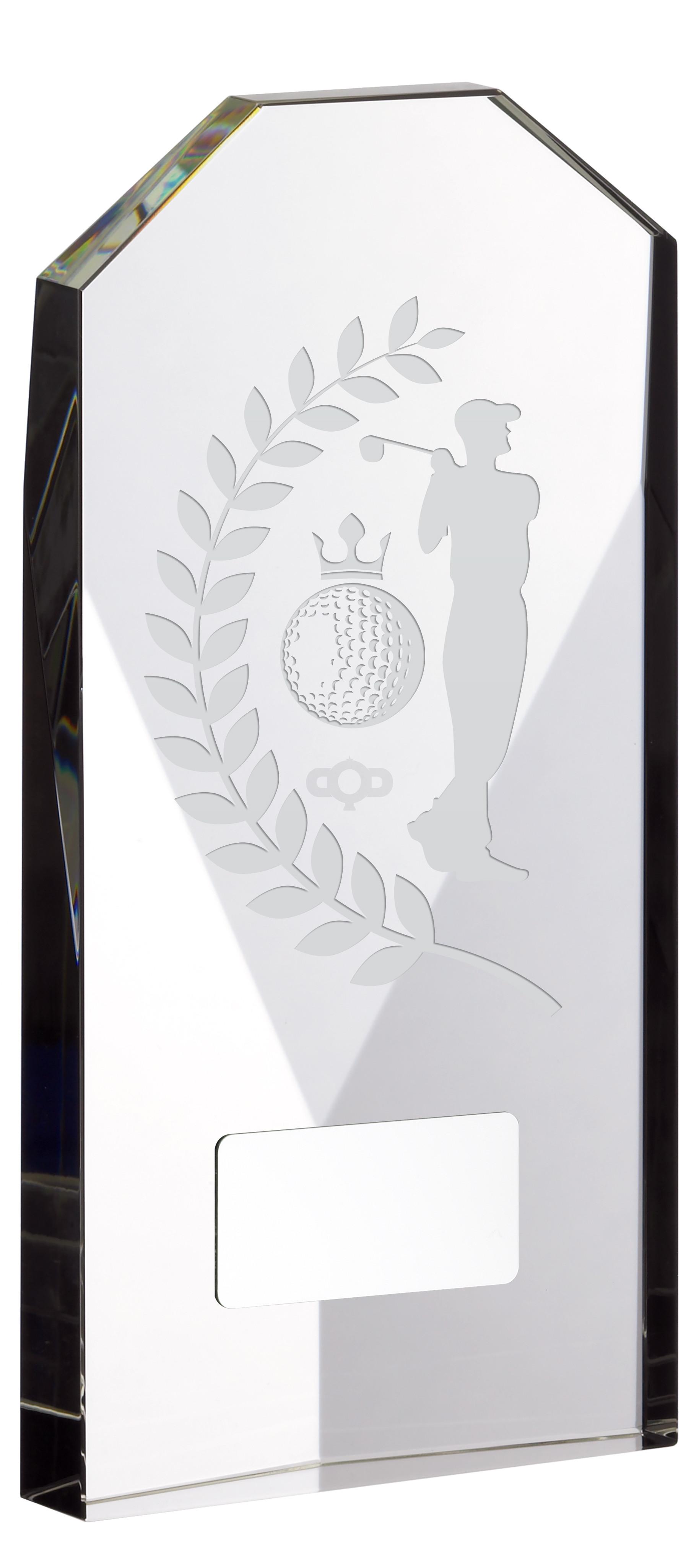 Glass Award Golf Male