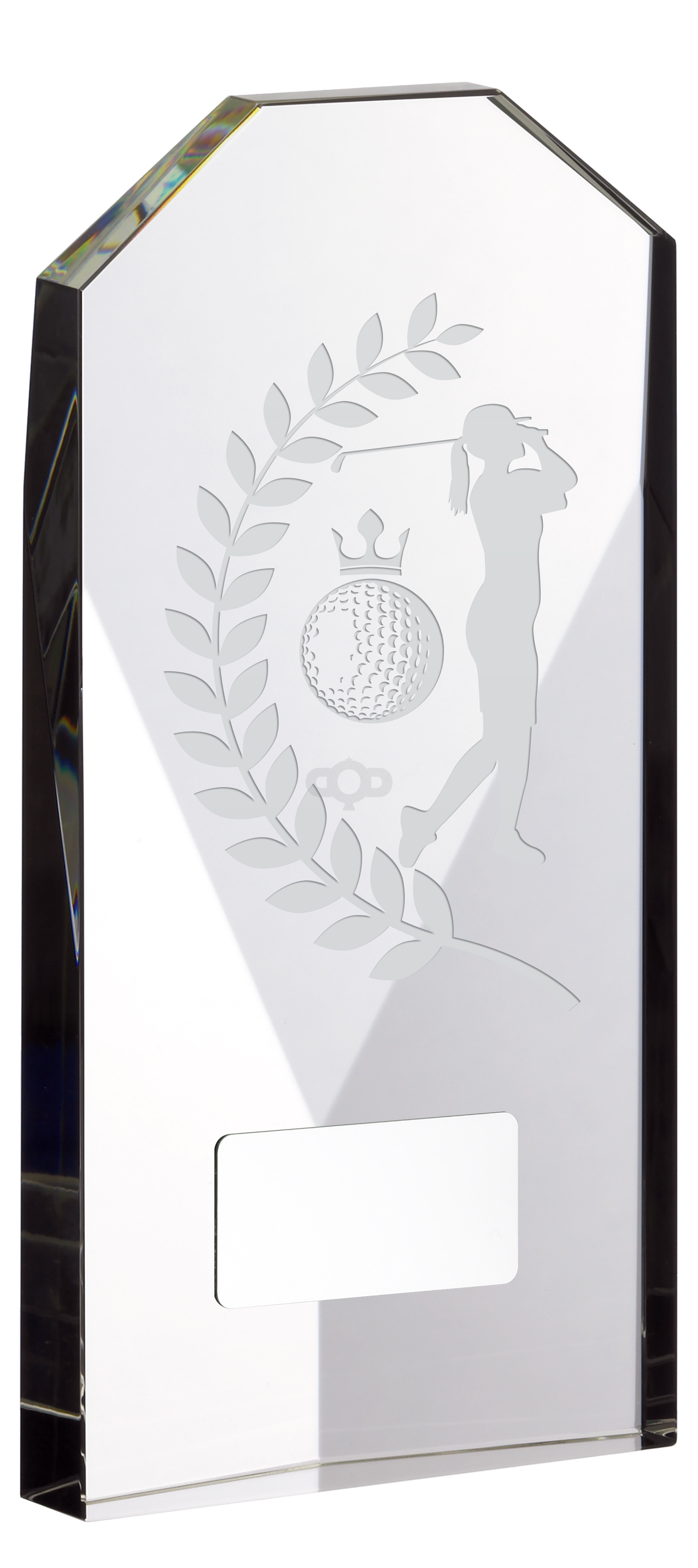 Glass Award Golf Female