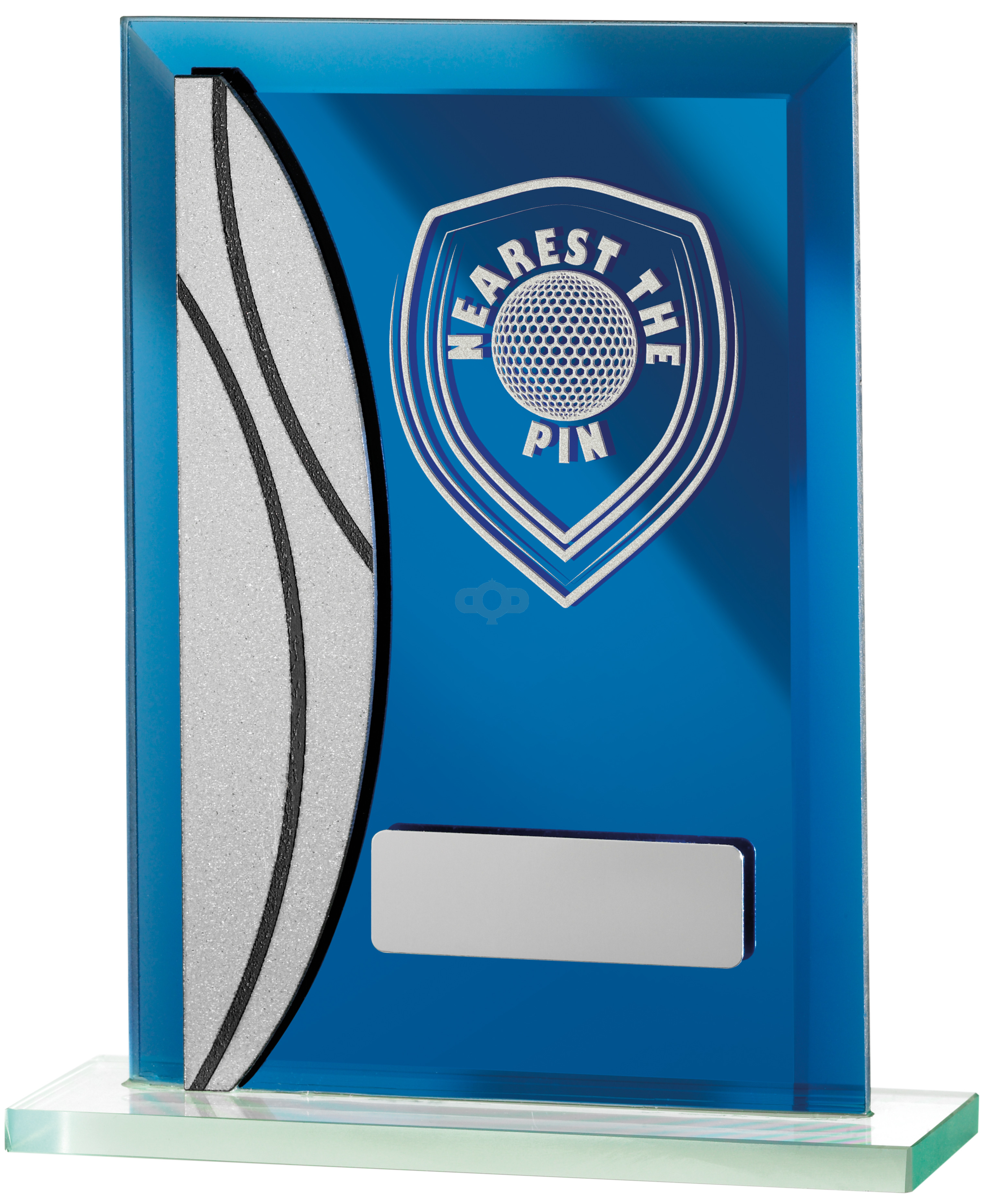 Golf Nearest The Pin Blue Mirrored Award