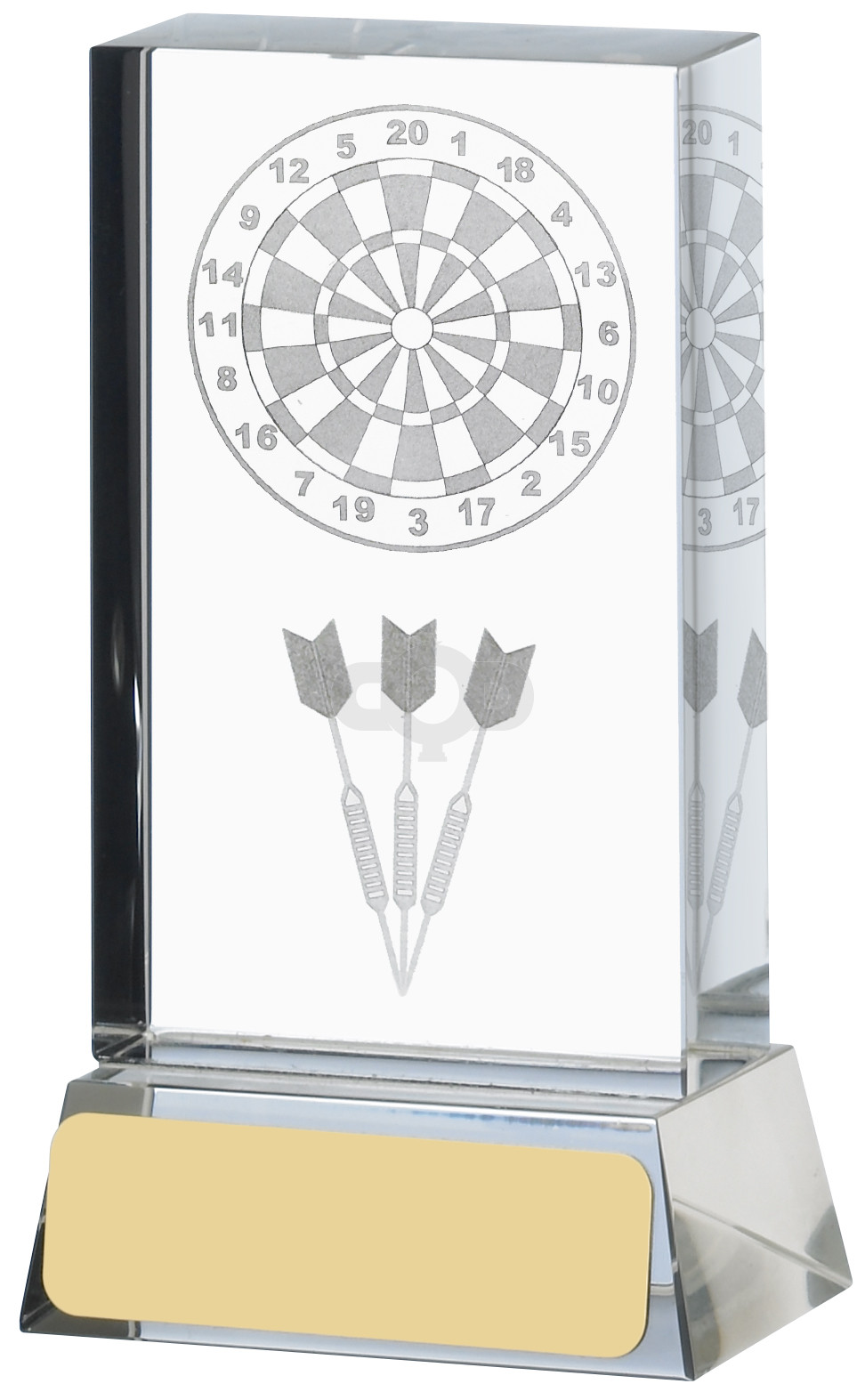 Darts Lasered Glass Block