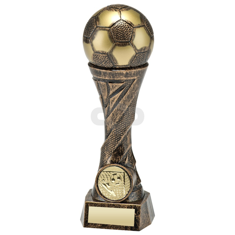 Bronze & Gold Weighted Plastic Football Column Trophy