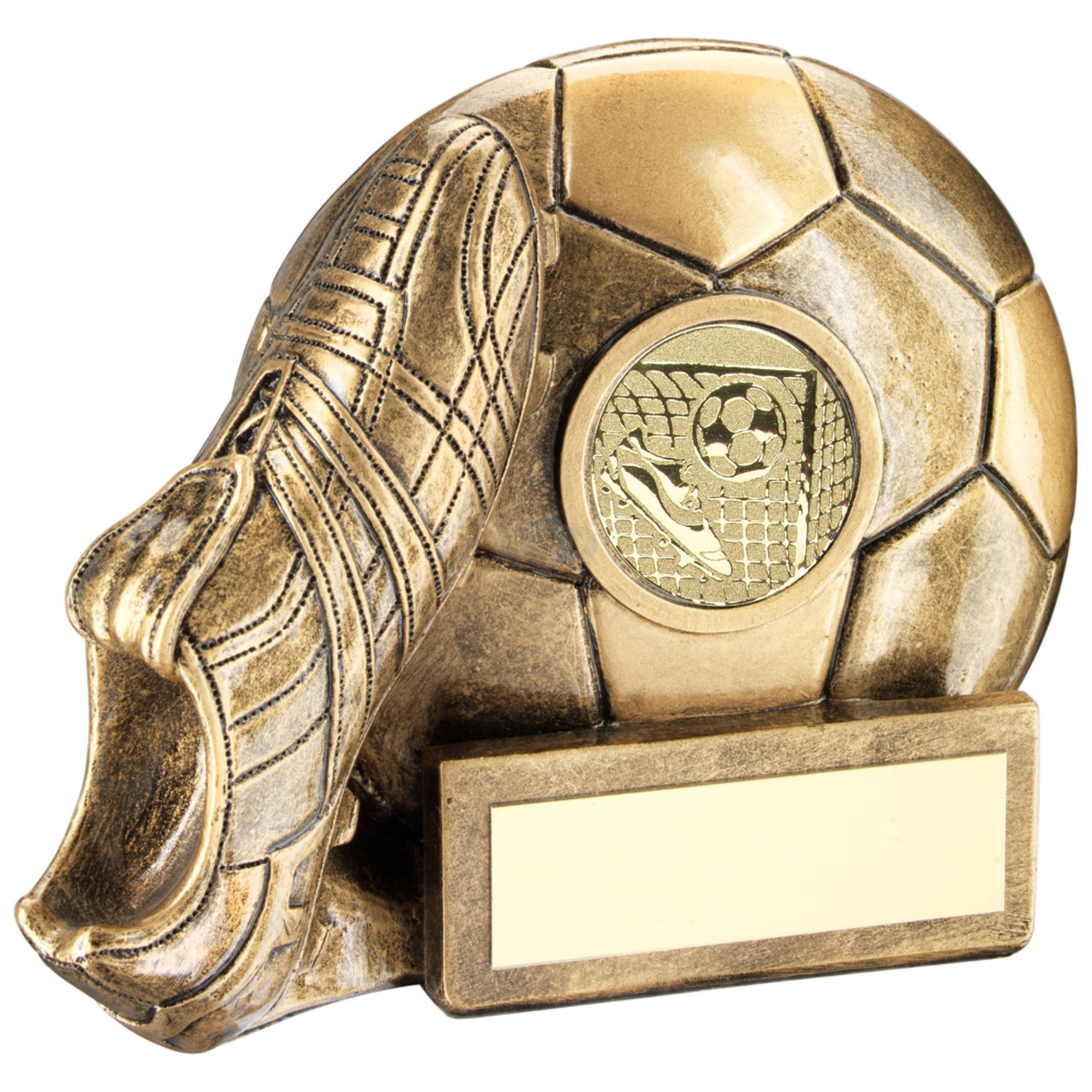 Football And Boot Chunky Flatback Trophy