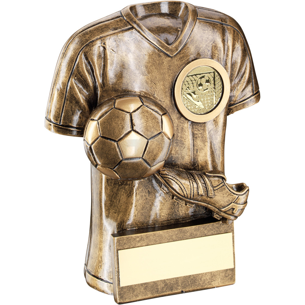 Football Trophy Shirt With Boot & Ball Trophy