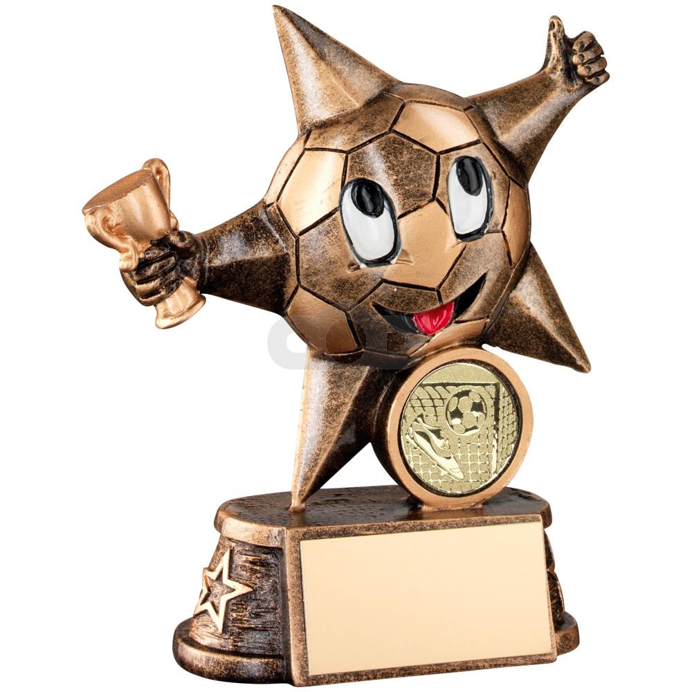 Resin Football 'Comic Star' Figure Trophy