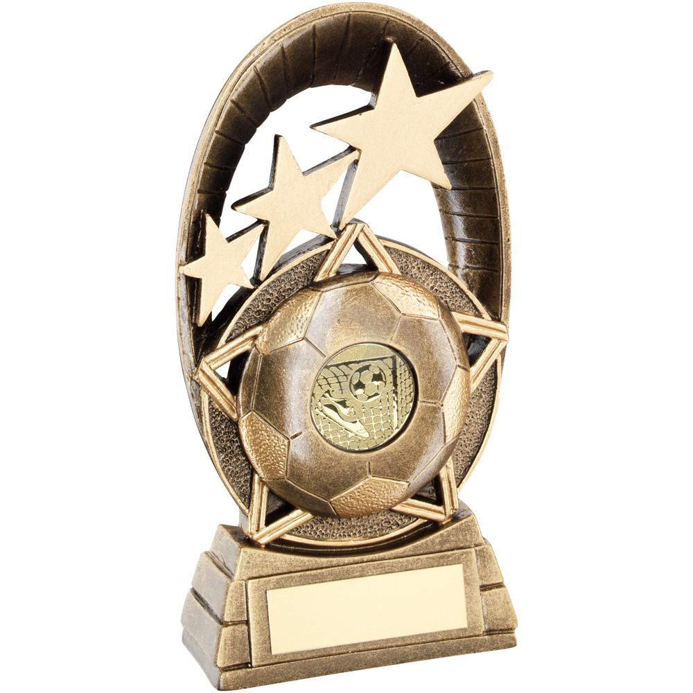 Football Tri-Star Oval Plaque Trophy