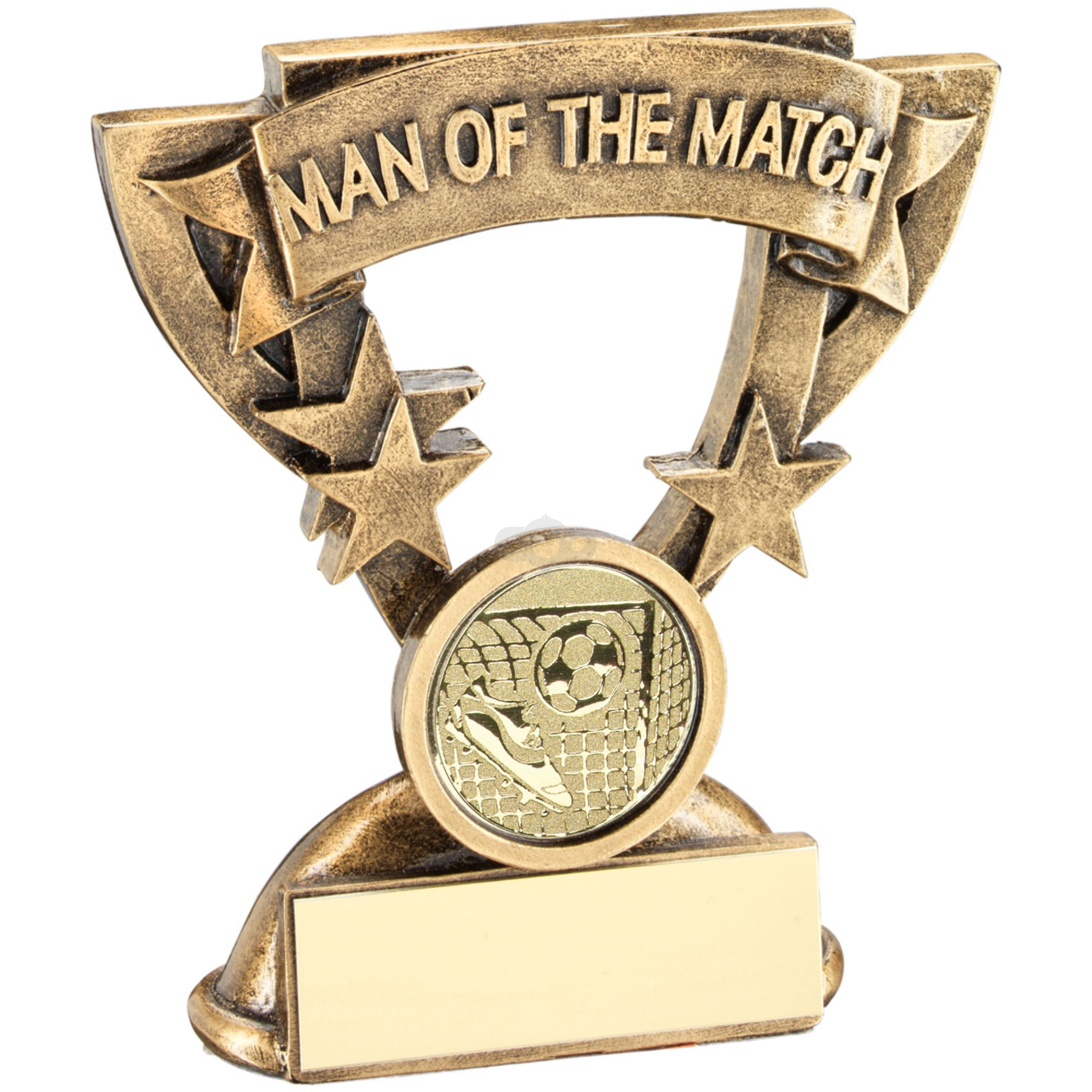 Man Of The Match Mini Cup With Football Insert Trophy
