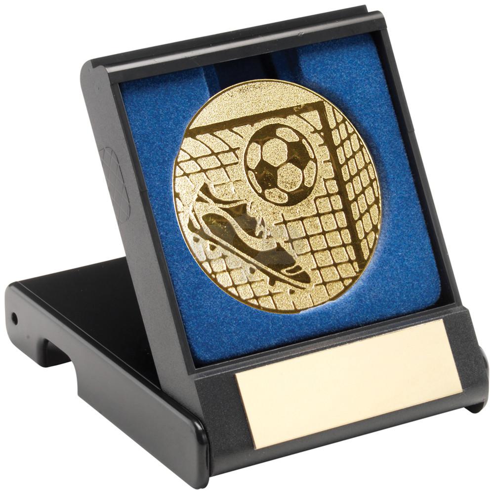 Black Plastic Box With Football Insert