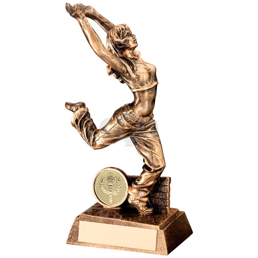 Resin Female Street Dance Figure Trophy