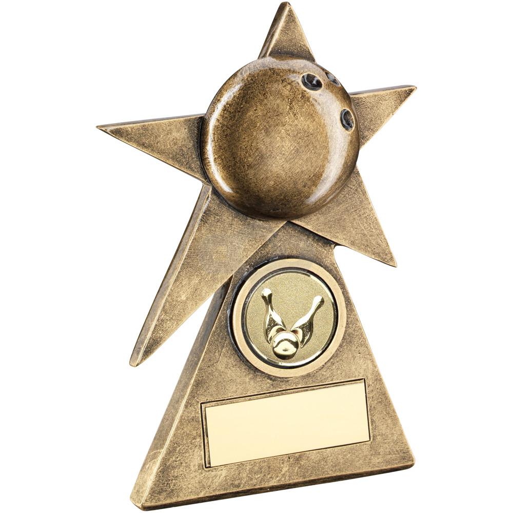 Ten Pin Star On Pyramid Base Trophy