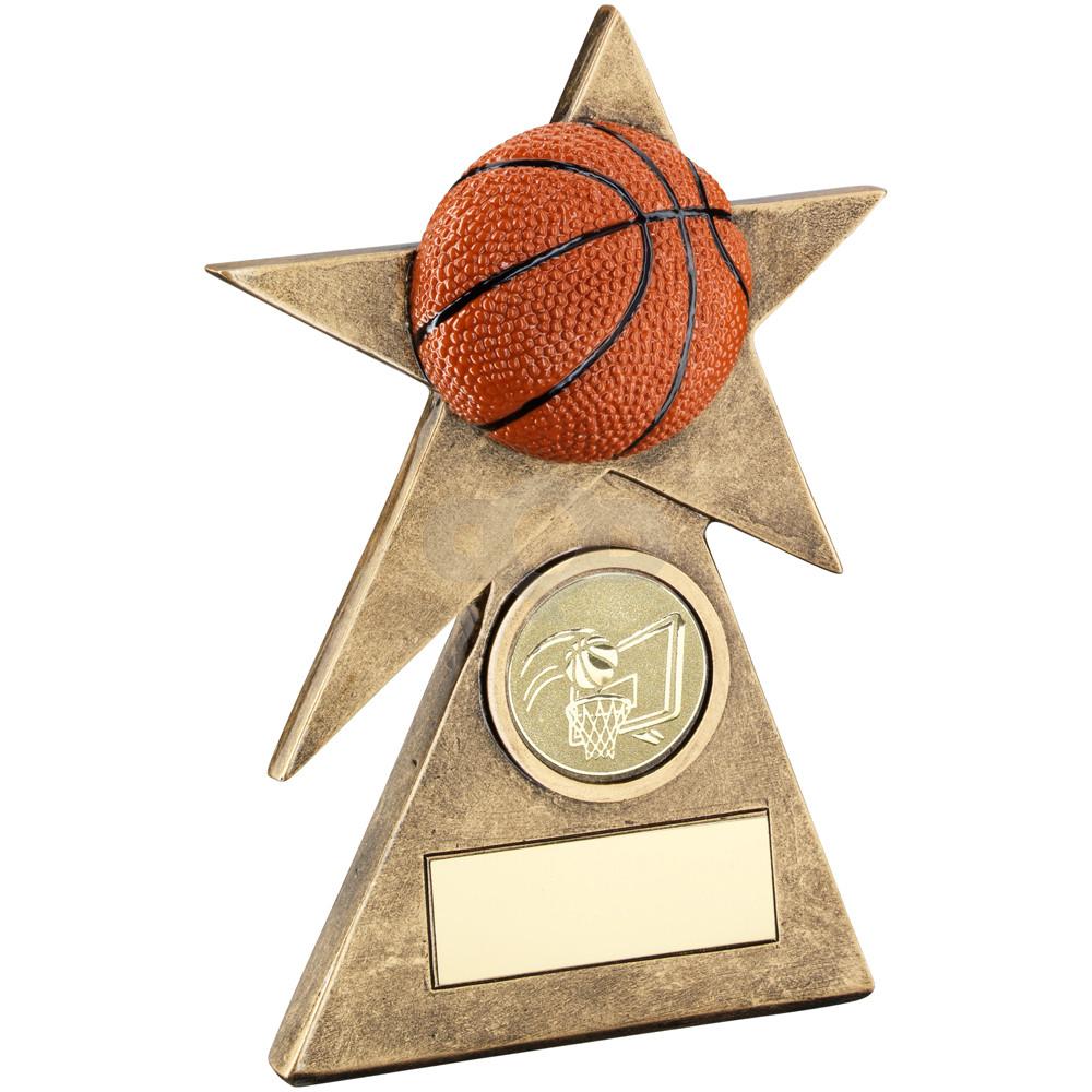 Basketball Star On Pyramid Base Trophy