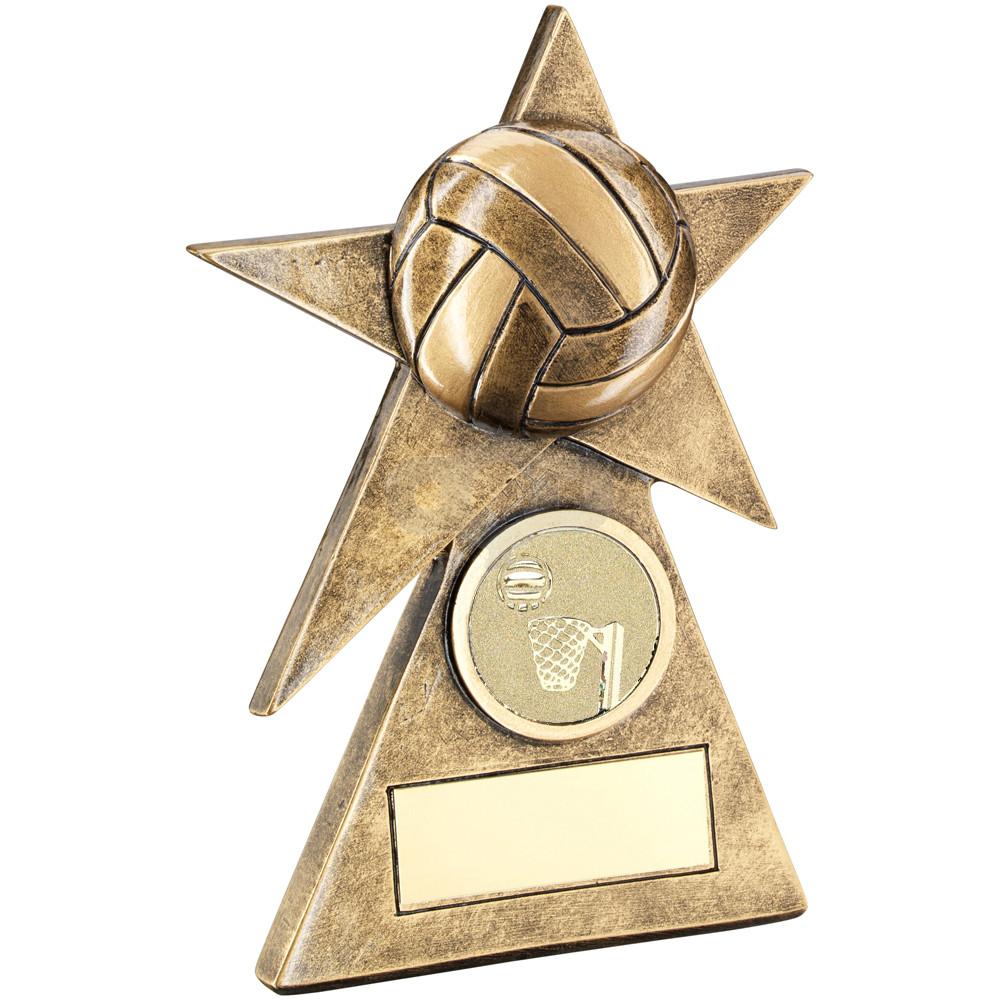 Netball Star On Pyramid Base Trophy