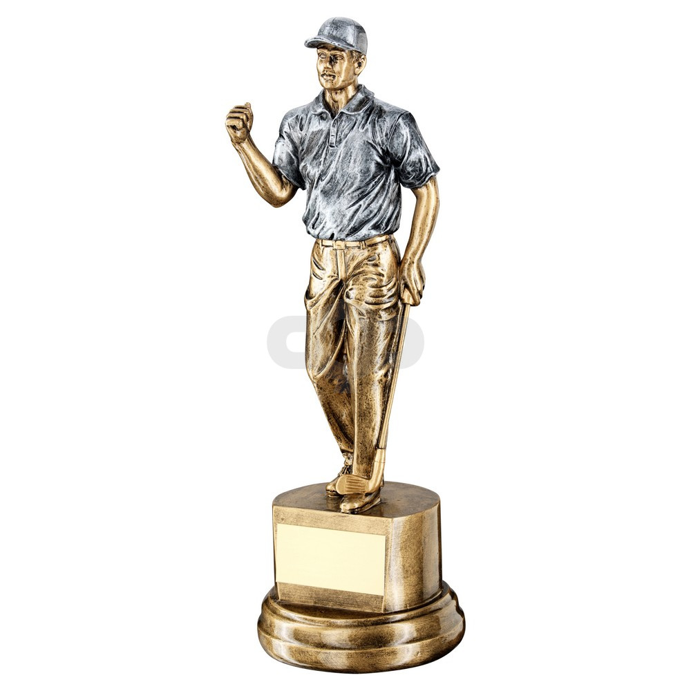 Bronze & Pewter Male 'Clenched Fist' Golfer Trophy