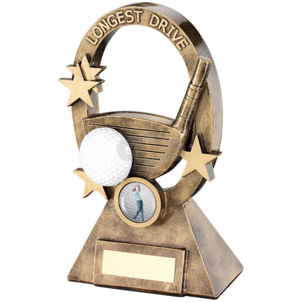 Golf Oval Stars Series Trophy Longest Drive