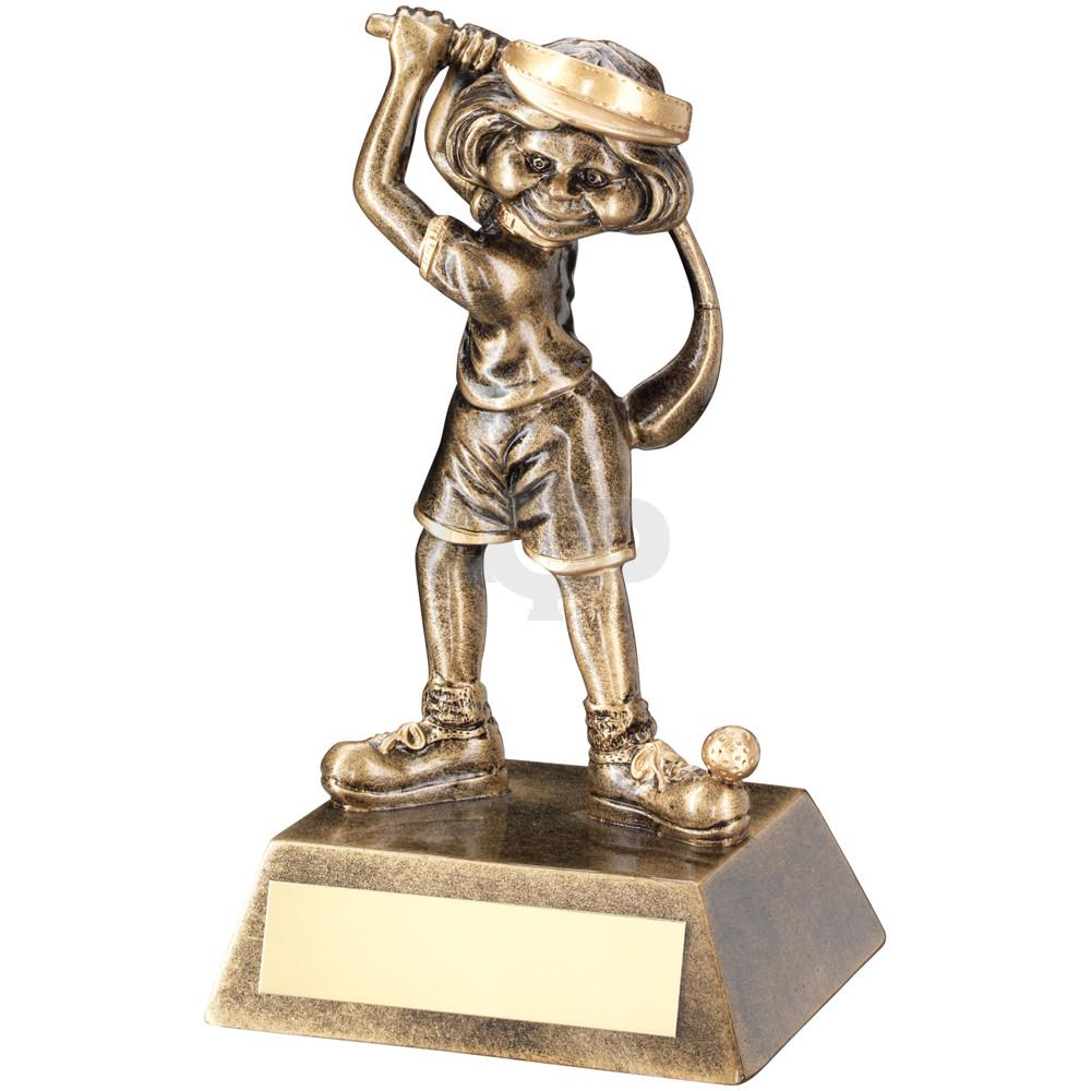 Female Comic Golf Figure Trophy