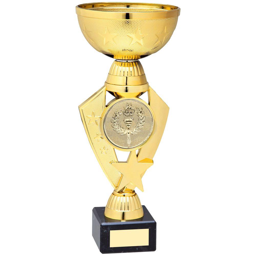 Gold Total Plastic Star Trophy