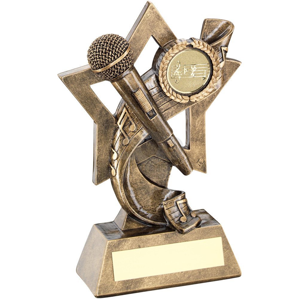Music On Star Backdrop Trophy