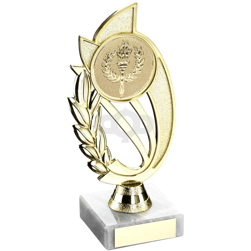 Plastic Laurel Holder On Marble Trophy